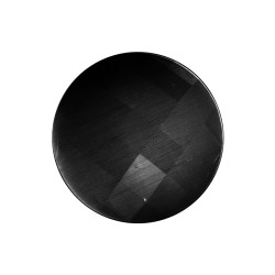 Cat's eye faceted dark grey insignia 33mm